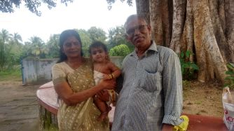 Rithika with her Maternal Grandparents